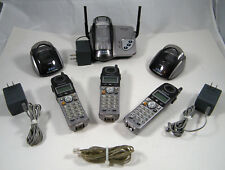 PANASONIC HOME/OFFICE CORDLESS PHONE SET ~ 3 PHONES, BASES, POWER SUPPLY ~ USED