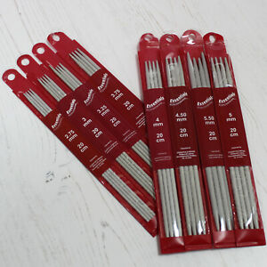 Double Pointed Knitting Pins Whitecroft Essentials Knit Needle in 8 Sizes
