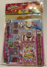 11 Piece Shopkins Stationary Set Folder Notebook Memo Pad Pencils Eraser Ruler