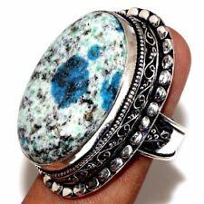 Handmade Blue Azurite Jasper 925 Sterling Silver Ring Size: 9 #R00097
