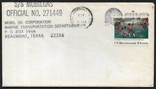 USA 1975 Ship Mail Cover S/S Mobilgas