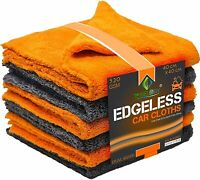 Towelogy® Edgeless Microfibre Car Cloths 520gsm Auto Detail Drying Towel 40x40cm