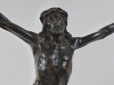 Vintage Corpus Jesus Christus Metallguss patiniert