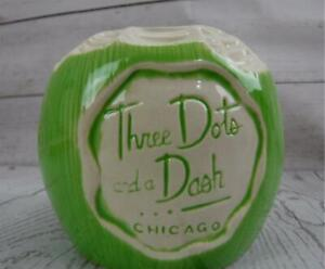 Tiki Mug Light Green Young Coconut Mug Three Dots and A Dash Chicago  11