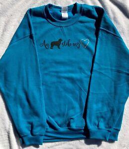 Aussie Rescue - An Aussie stole my heart sweatshirt - Antique Sapphire - Small