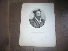 GRAVURE 1820 PHILIBERT DE L'ORME
