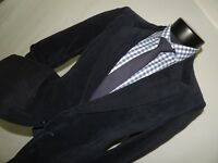 Vintage Scott Grey LTD men's Blue VELVET jacket coat size 40 short.