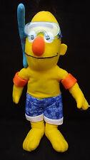"Sesame Street Burt Goggles Floaties Swim Suit Snorkel Yellow Plush 14"" Toy Lovey"