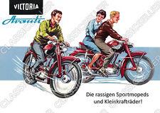 Victoria Avanti Moped Poster Plakat Bild Kunstdruck Schild Affiche Reklame Deko