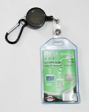 70cm Retractable Double Sided Transparent ID Card Badge Holder Belt/Snap Clip