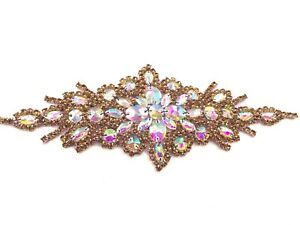 Dusky Rose Beautiful Motif hand Sewing Iron on Bridal Dress belt Clothes Appliqu