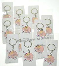 "24 X  Baby Shower Girl Party Favors Key Chains Recuerdos De Nina It""s a Girl Pk"