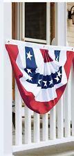 "PATRIOTIC AMERICAN BUNTING SWAG FLAG JULY 4TH  SEWN USA  36"" x 18"""