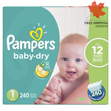 Pampers Baby Dry Disposable Diapers Size 1, Economy Pack Plus, 240 Count