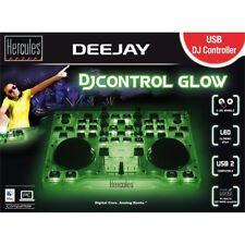 HERCULES DJ CONTROL GLOW GREEN controller midi usb doppio deck verde fluo x dj