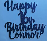 Custom Cake Topper Glitter Any word Any name personalised 16th birthday