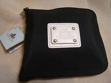 Rowallan Scotland Black Foldable Nylon and Leather Tote Bag 715359