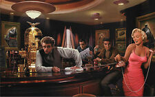 Marilyn Monroe,Elvis Presley, James Dean and Humphrey Bogart   Large 30x20