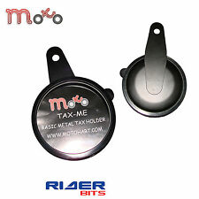 MOTORBIKE BASIC METAL TAX DISK HOLDER BLACK QUAD SCOOTER UNIVERSAL FIT
