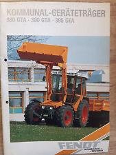 Original Prospekt Fendt Kommunal Geräteträger 380 GTA 390 GTA 395 GTA