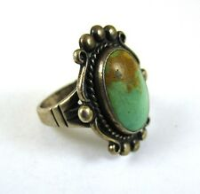 Vintage Sterling Silver Southwest Turquoise Beautiful Ring