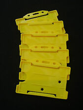 5 Yellow Security ID Pass Card/Badge Holders For Lanyard/Belt Clip - Police/PCSO