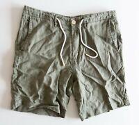 Zara Man Green Size Small Shorts Pockets Summer Comfort Casual