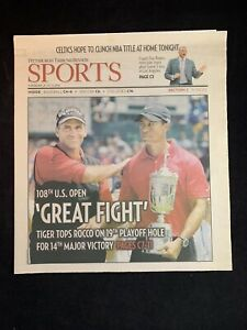2008 Pittsburgh Tribune-Review Sports 108th U.S. Open Tiger Woods Rocco Mediate
