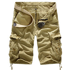 Mens Military Combat Camo Cargo Shorts Pants Work Casual Short Army Trouser New