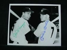 NobleSpirit {3970} Rare MLB HOF Mickey Mantle and Joe DiMaggio Autographed Photo