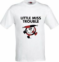 LITTLE MISS TROUBLE  FUNNY FULL COLOR SUBLIMATION T SHIRT