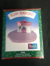 Hallmark Merry Miniatures Collection Nib Piglet Christmas At Pooh's House 1999