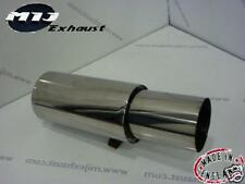 """Universel 4"""" Jap Style Exhaust back box 2.25"""" Inlet Performance Sports muffler"""