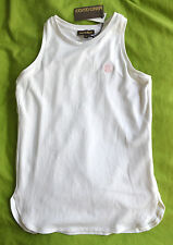 NWT Authentic Girl's Roberto Cavalli Kids White Stretch Jersey Tank Top (Size 6)
