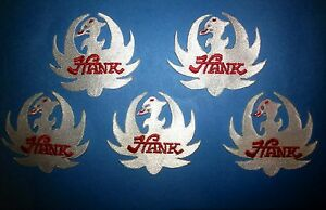 5 Lot Hank Williams Jr Country Western Music Hat Jacket Patches Crests White