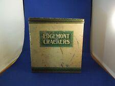 Vintage Edgemont Crackers Metal Snack Tin