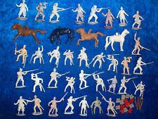 Convolute 38 Merten Plastic Figures Blanks Wild West USA North / Southerner 4cm