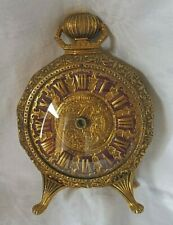 LANCEL PARIS ,Pendulette, réveil style rococo bronze doré ciselé , grand modéle