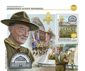 Central African Rep Scouting Stamps 2020 MNH World Scout Jamboree Scouts 1v S/S