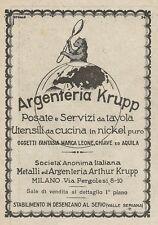 Z2021 Argenteria Krupp - Posate e Servizi da tavola - Pubblicità d'epoca - Adv.