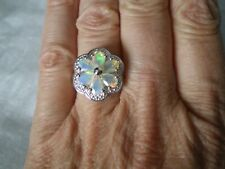 Ethiopian Opal ring, size N/O, 1.64 carats, 4.43 grams of 925 Sterling Silver