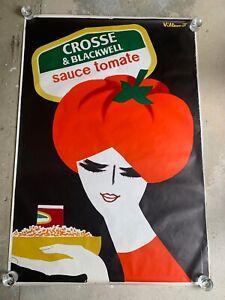 Original Poster Crosse & Blackwell TOMATO SAUCE by Villemot 1980