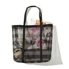 Victorias Secret Black Mesh Gym Handbag Beach Weekender Travel Tote Bag NEW