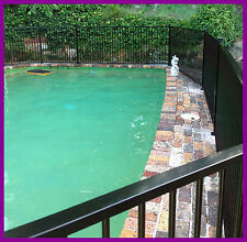 Certified Black or Primrose Pool Fence Flat Top. We supply and install