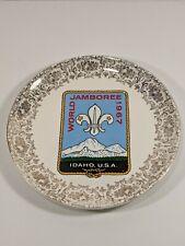 """1967 World Scout Jamboree Souvenir 9"""" Plate~ Idaho USA, Boy Scouts"""