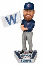 Chicago Cubs Jake Arrieta Bobblehead 2016 World Series Champions Fly W Flag