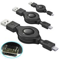 G47 3x USB Kabel Daten- Ladekabel A Stecker auf micro B Samsung ausziehbar 80cm