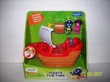 Fisher Price The Backyardigans Pirate Tub Time Bath Toy Pablo & Uniqua 2011 NEW