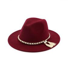 Ladies Hard Felt Warm Bowler Cap Cloche Vintage Wide Brim Fedora Hat Winter