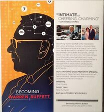 Becoming Warren Buffett and Suited,  FYC HBO EMMY DVD 2 Documentaries 2017